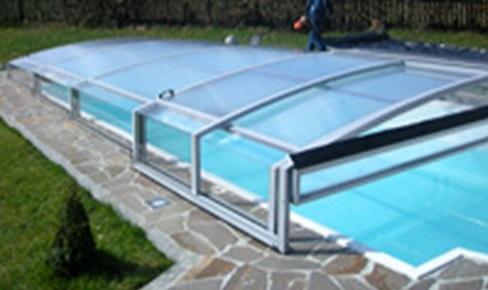 Prekrytie bazénov bez kolajníc